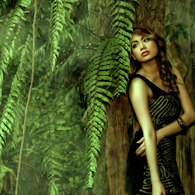 into a wilderness by Lhito  Trinidad - People Portraits of Women ( fashion, girl, outdoor, artistic, lady, beauty, women )