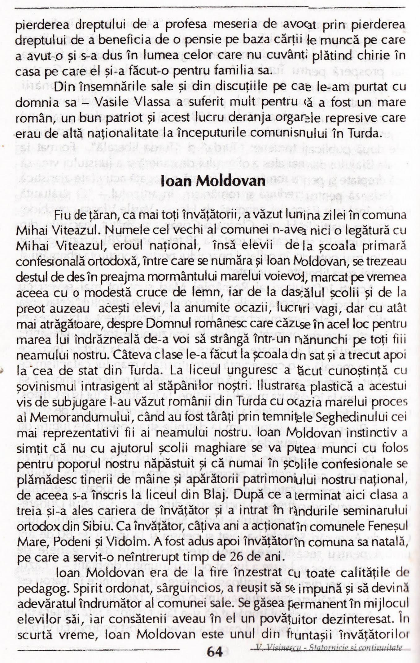 Photo: 64 - Ioan Moldovan.  Nascut in comun Mihai Viteazul. Alege cariera de invatator. A intrat in randurile  seminarului ortodox din Sibiu.
