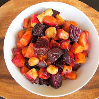 Oven Roasted Root Vegetables.