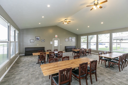 Clubhouse with Tables, Chairs, and lots of Windows