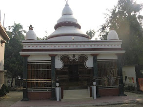 Photo: The privately built by the family of late Tapan Banerji in Brahmankanda village, Faridpur, Bangladesh - the temple of  Radha Krishna containing the previously mentioned Bigrahas (Deities).