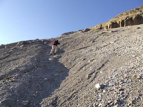 Photo: El terra descompost de l'antiga glacera de la Brecha