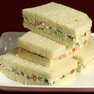 Cream Cheese Sandwiches.