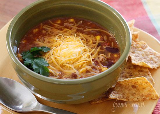 Turkey Chili Taco Soup | Skinnytaste