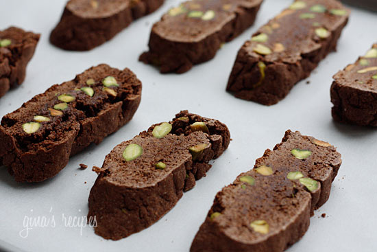 Warning: Make at your own risk... these chocolate pistachio biscotti are highly addictive, hard to eat just one!!