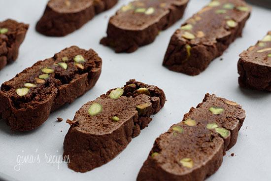 Chocolate Pistachio Biscotti | Skinnytaste