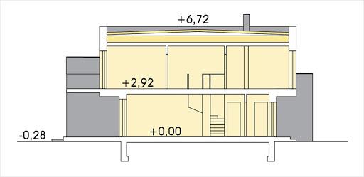 Katrina segment prawy - Przekrój