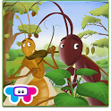Ant and Grasshopper Storybook icon