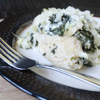 Slow Cooker Spinach and Artichoke Chicken with Rice