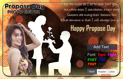 Propose Day Photo Editor - náhled