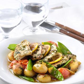 Kalkoen Met Citroen Met Een Groente- En Aardappelstoofschotel