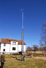 Photo: Inspektion av tänkt antennmast hos SM6IYO