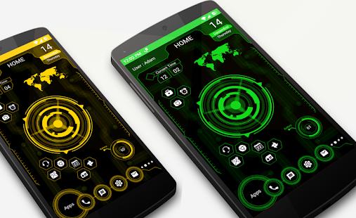 Futuristische UI Launcher 2018 - Hitech Theme Screenshot