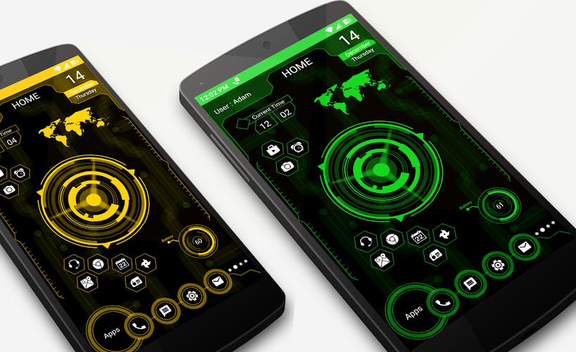 Download Futuristic UI Launcher 2019 - Hitech Theme APK