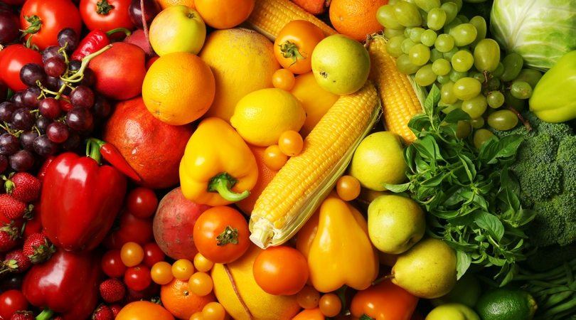 pile of fruits and veggies