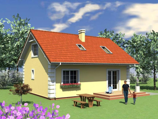 projekt Mały dom w Chociwlu 1