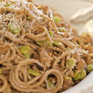 Spaghetti with Chianti and Fava Beans Recipe
