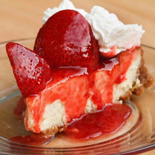 Mascarpone Strawberry Cheesecake.