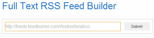 Feed RSS completo leer