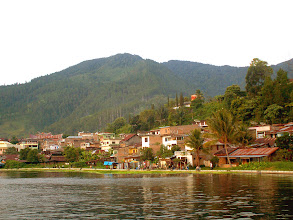 Photo: Parapat and Lake Toba