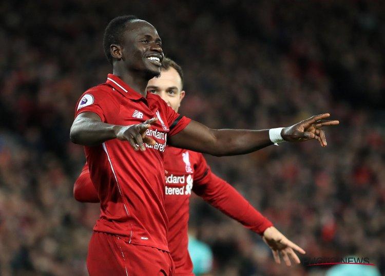 Sadio Mané élu meilleur joueur du mois en Premier League