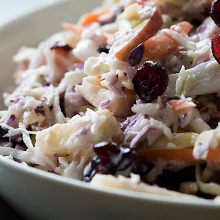 Apple Cranberry Almond Coleslaw