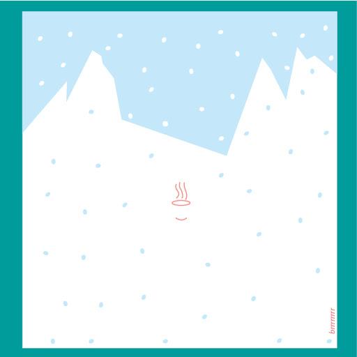 """Carte hivernale """"Aujourd'hui je suis restée au chaud, merci"""""""