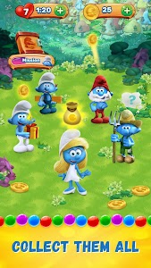 Smurfs Bubble Story screenshot