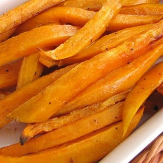 Sweet and Spicy Sweet Potato Baked Fries!