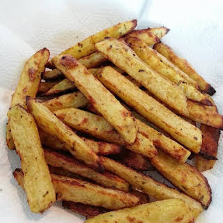 Hand Cut Baked Fries.