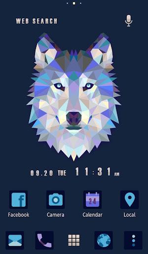 狼の壁紙・アイコン トライアングル・ウルフ