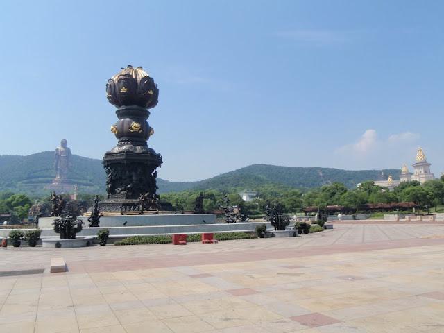 Vista general del recinto del Buda de Wuxi