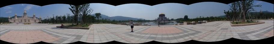 Plaza frente a los palacios