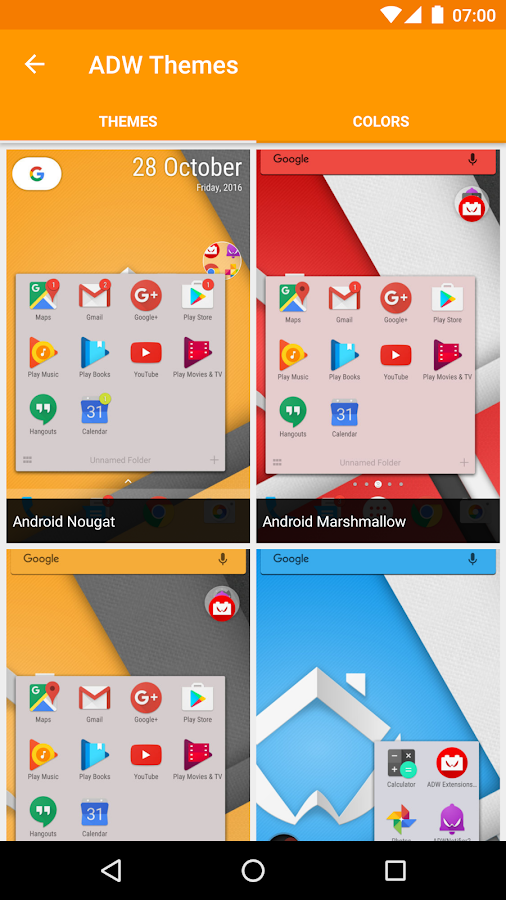 ADW Launcher 2: captura de pantalla
