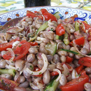 Cranberry Beans, Cherry Tomatoes & Cucumber Salad