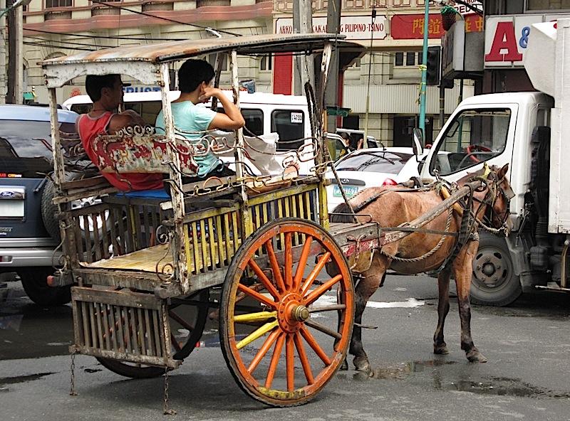 a kalesa in Binondo