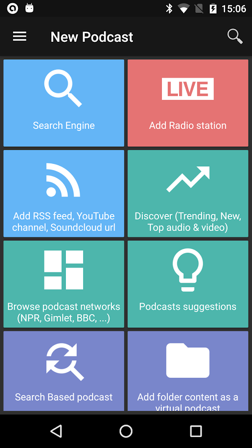 Screenshots of Podcast & Radio Addict for iPhone