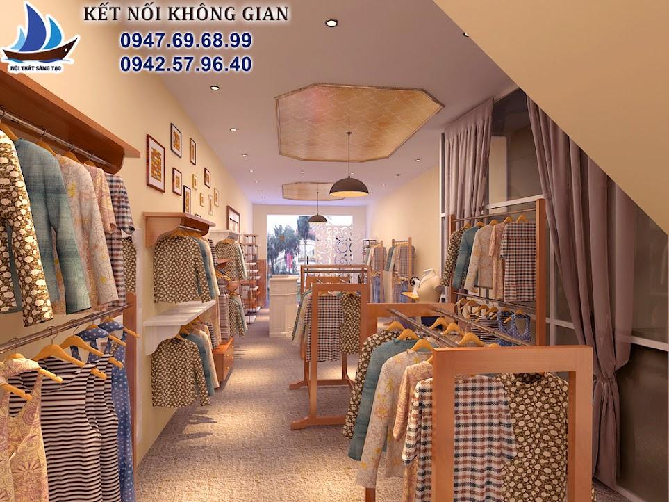 thiết kế cửa hàng thời trang nữ giá rẻ
