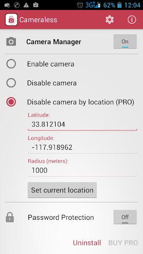 Cameraless – 禁用摄像头