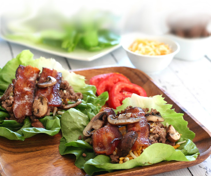Low-carb Bacon Cheeseburger Wraps