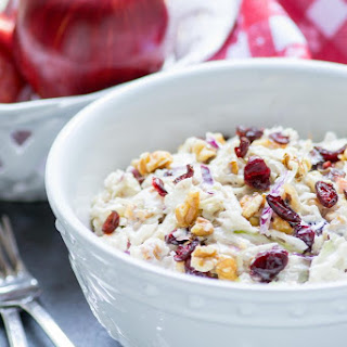 Apple Cranberry Walnut Cole Slaw