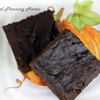 Double Chocolate Spiced Pumpkin Brownies.