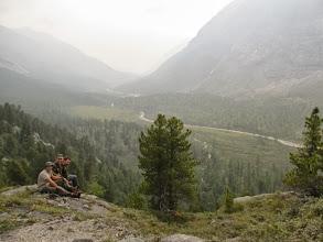 Photo: На пути к пер. Моренному, на первом ригеле. Вид на долину Левого Ара-Ошея