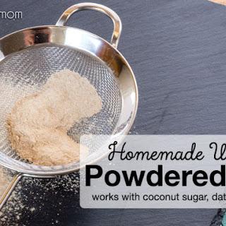 Homemade Unrefined Powdered Sugar