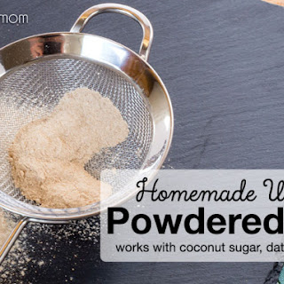 Homemade Unrefined Powdered Sugar.