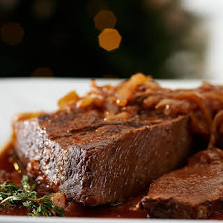 Slow Cooker Brisket Recipe with Caramelized Onions.