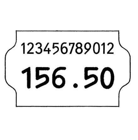 Etikett 32x19 vit perm 5rl/fp