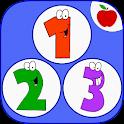 0-10 juego de números de bebés icon