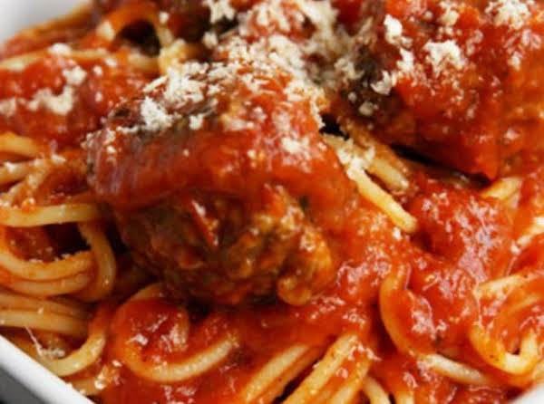 Doctored Up Crockpot Meatballs (and Pasta)