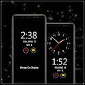 Always on display Super Amoled Clock icon